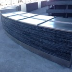 "1/4"" thick 316 stainless steel curved barrier cladding"