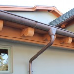 "6"" Half Round Copper Gutter w/Star Outlet, Extendable Elbow & Cast Brass Hangers"