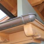 "6""Half Round Copper Gutter w/Spherical End Cap & Cast Brass Hanger"