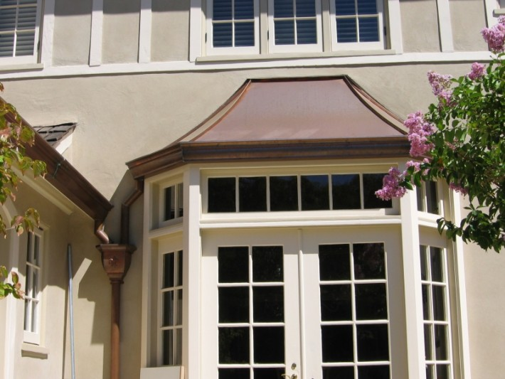 Copper Sweep Style Bay Window Over Eclipse Millennium