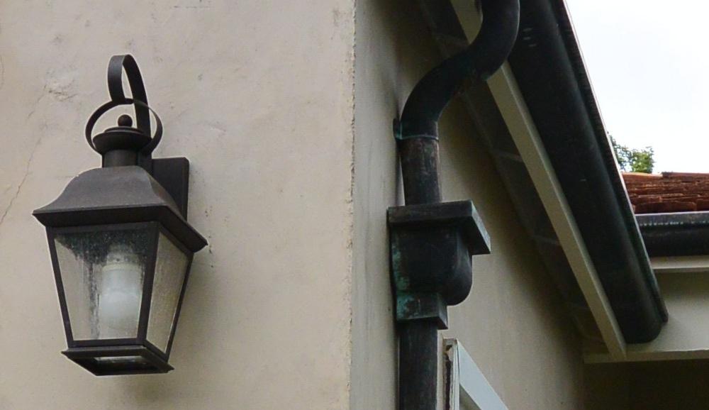 Bullnose Copper Gutter With Bullnose Copper Leaderhead