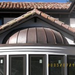 Standing Seam Copper Bow Window Installed