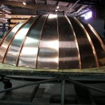 Standing Seam Copper Entry Bow Canopy