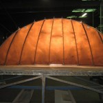 Standing Seam Copper Entry Bow Canopy - Backside