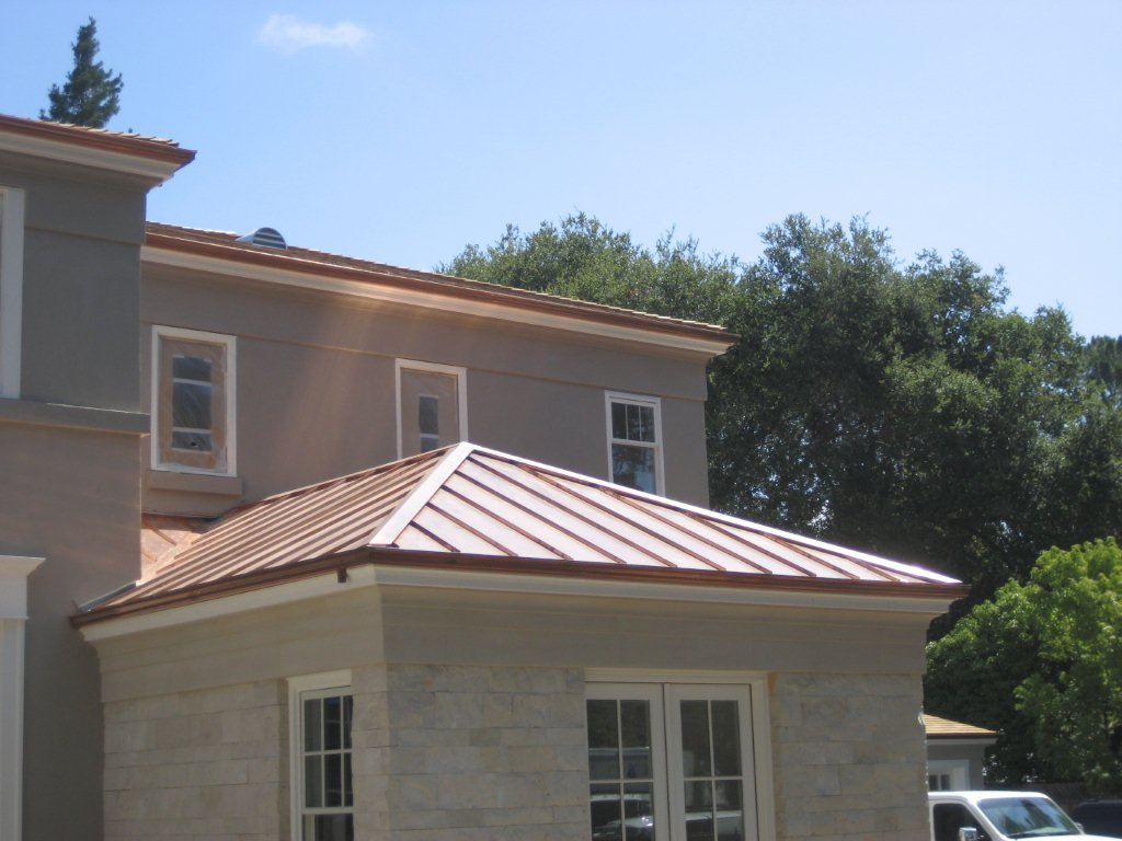 Copper standing seam roof concord sheet metal copper for Copper standing seam roof