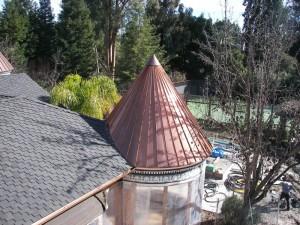 Copper panel turret