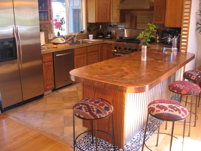 Copper and stainless countertop pricing concord sheet Copper countertops cost