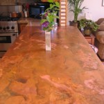 48 oz copper countertop with patina by customer