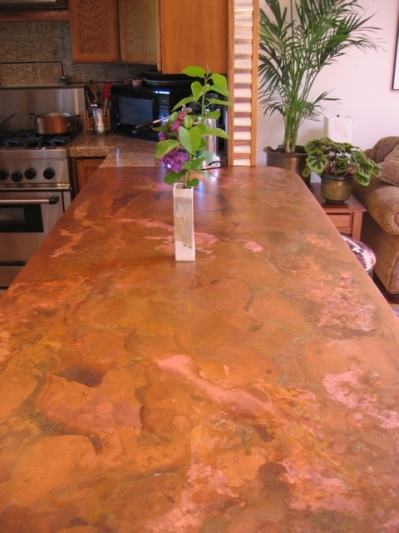 Ballpark pricing radius copper gutters countertops and Copper countertops cost