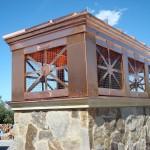 "43"" x 103"" Sierra Style Copper Deco Top"