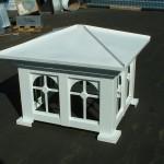 Mission Style Aluminum Deco Top W/White Powder Coat