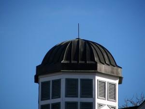 Close Up Of Standing Seam Copper Dome