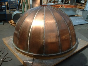 Inverted Seam Copper Dome Before Installation