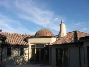 Standing Seam Copper Dome