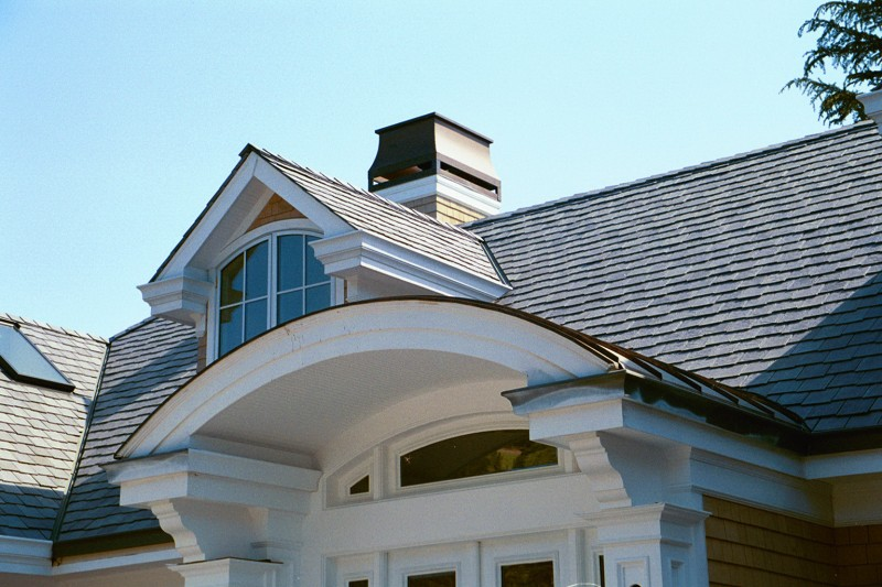 Standing Seam Copper Dormer Roof Over Entryway Concord