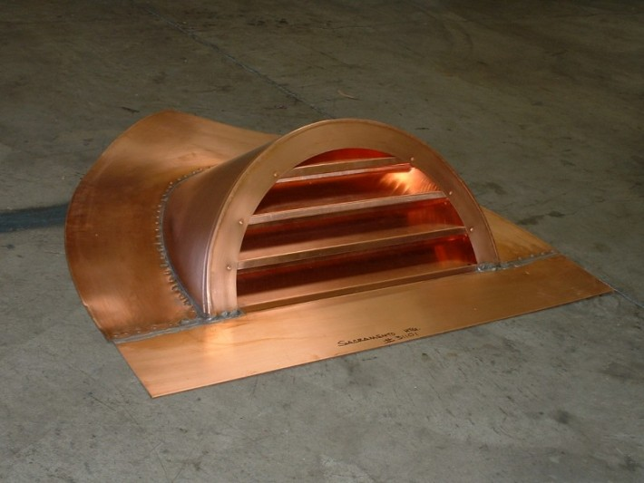 Half Round Copper Dormer Vent With Reveal Face