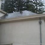 Gray Zinc Leaderheads, Downspout, Dormer Vents (1)