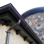 "6"" World Gutter System W/Cast Bronze Hangers, 3"" Cast Bronze Downspout Straps"