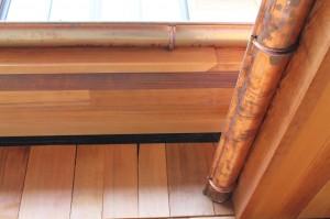 """5"""" Half Round Copper Gutter w/Stamped Straps"""