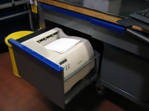 Opened Printer Drawer