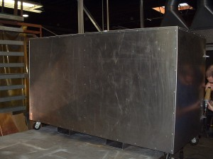 Back Side Of Aluminum Container