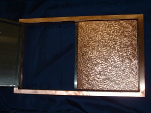 Stainless Doors Skinned W/Hammered Copper