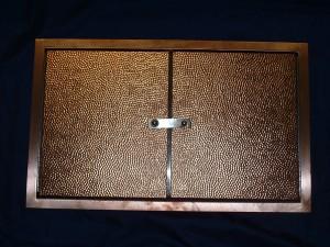 Hammered Copper Doors