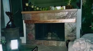Copper Fireplace Mantle W/Vibration Finish
