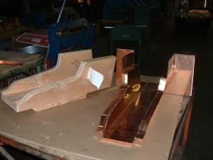 Custom Copper Trough To Fit Template