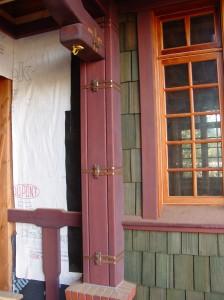 Close Up Of Copper Post Wrap Straps