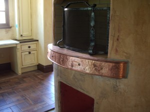 Side View Of Textured Copper Mantle
