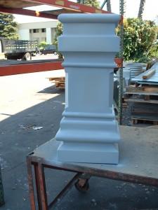 Custom Cornice Pillar For Francis Ford Coppola's House