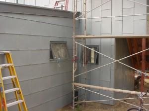 Installed Zinc Panel Siding