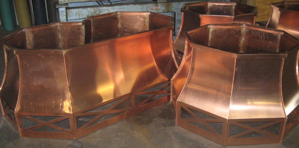 Octagonal Copper Deco Tops