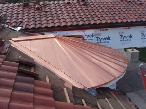 Copper Tapered Panel Roof