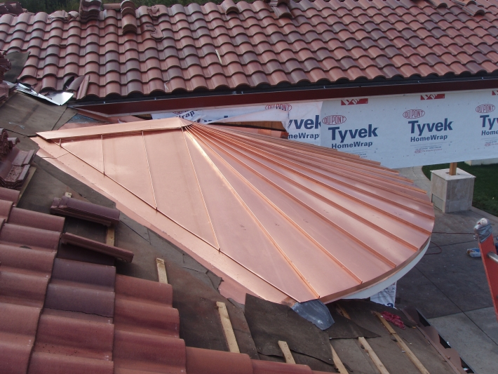 Copper Tapered Panel Roof Concord Sheet Metal Copper