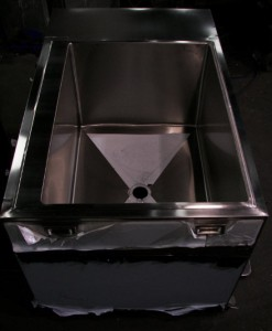 Rolling Stainless Steel Cabinet with Sink