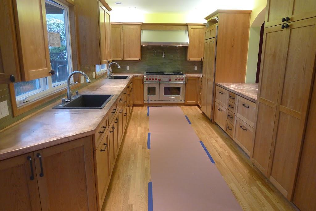 Vibration Finish Copper Countertops