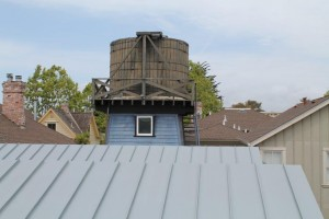 Rheinzinc Blue-Gray Standing Seam Roof Panels