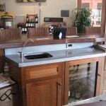 1 MM Blue-Gray Zinc Countertop with backsplash and undermount sink