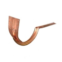 5'' World Gutter System Stamped Copper Strap