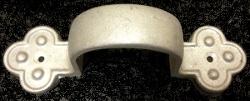 """3"""" round cast aluminum clover downspout strap"""