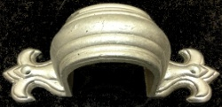 """3"""" round cast aluminum fleur-de-lis downspout strap"""