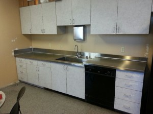 14 Ga Stainless Steel Countertop With offset and welded-in sink