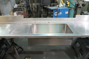 Stainless Countertop with Integral Sink and Drainboard