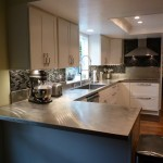 Custom 16 Ga Stainless Steel Countertop with Vibration Finish