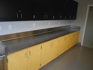 Long 16 Ga Stainless Steel Countertop for MVHS