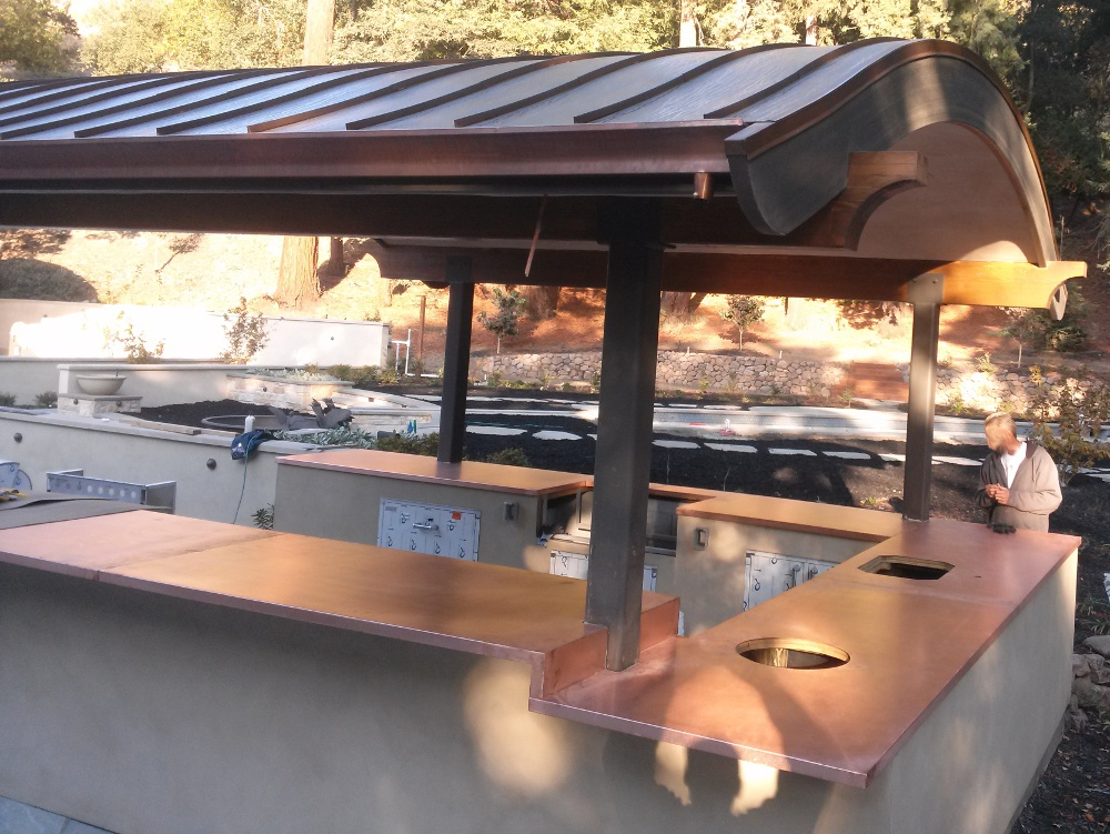 Outdoor Copper Counters 10 Concord Sheet Metal