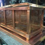 Custom Copper Deco Top with Removeable Copper Square Perforated Panels