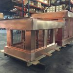 "Custom Copper Deco Tops with Removable 1/2"" Square Copper Mesh"